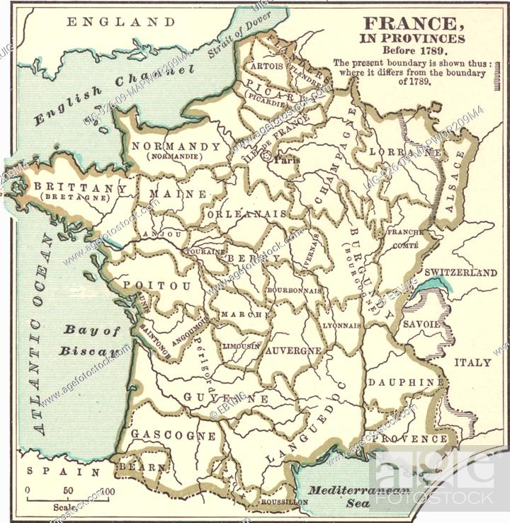 Map Of France French Revolution.Map Of The Provinces Of France Before The French Revolution In 1789