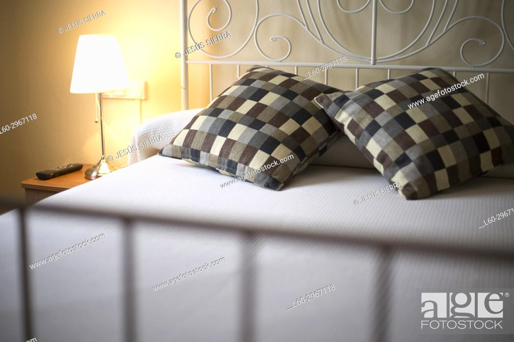Stock Photo: Bed in Hotel.