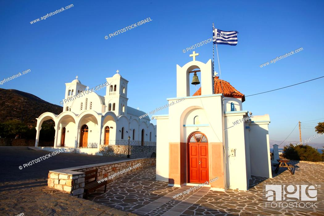 Stock Photo: White Church Paros, a Greek island in the central Aegean Sea. One of the Cyclades island group, Greece.