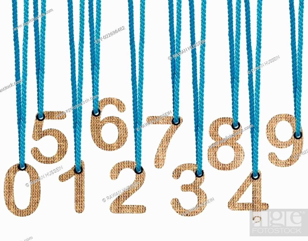 Stock Photo: Letters hanging strings.