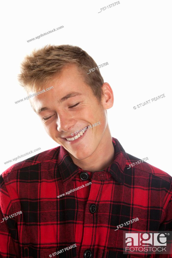 Stock Photo: Happy young man.