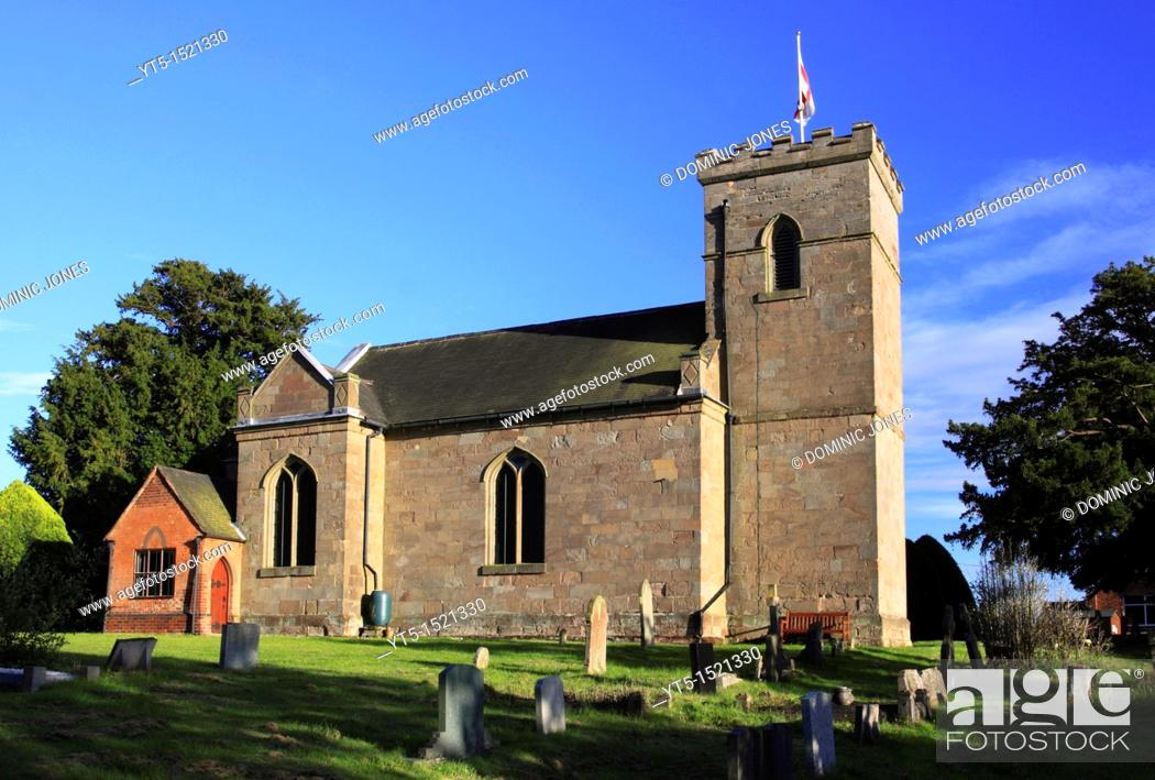 Stock Photo: St  Michael's Parish Church, Rushock, Worcestershire, England, Europe.
