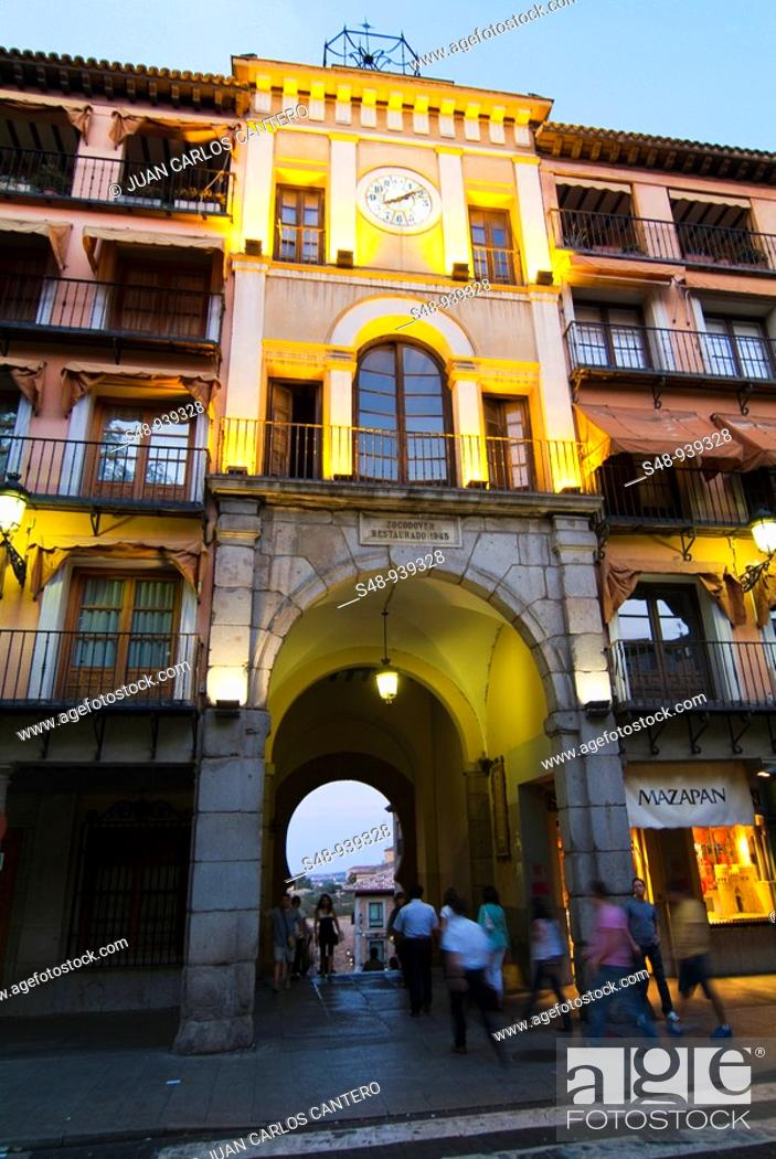 Stock Photo: Zocodover door in Toledo. Castilla la Mancha. Spain.