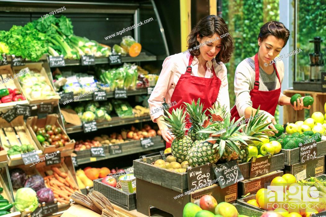 Stock Photo: Health food store, Green Supermarket, Organic grocery store, Donostia, San Sebastian, Gipuzkoa, Basque Country, Spain, Europe.