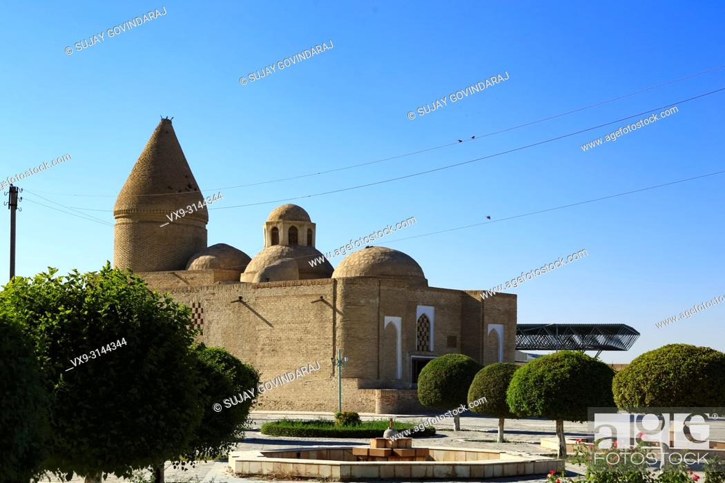 Stock Photo: View of Chashma Ayub, an ancient heritage site that was dedicated to the Saints for their stay during their visit to Bukhara.
