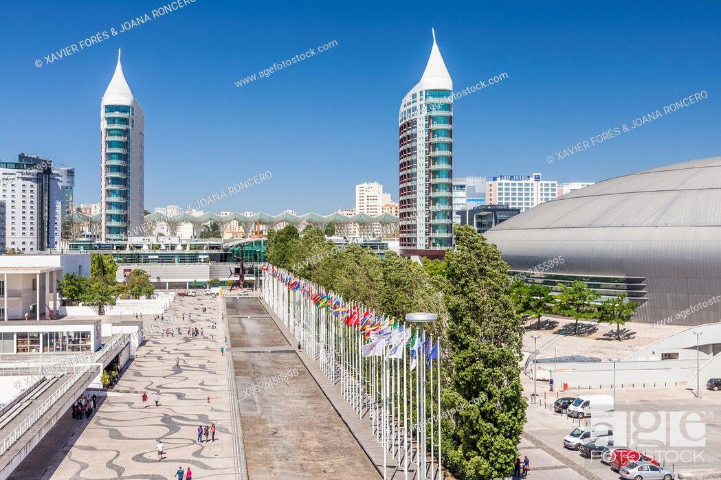 Stock Photo: Parque das Nações - Park of the Nations -, Lisboa, Portugal.