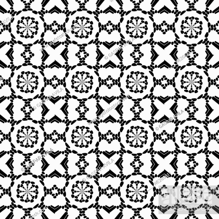 Stock Vector: Black and white embroidery pattern. Graphic design pattern.