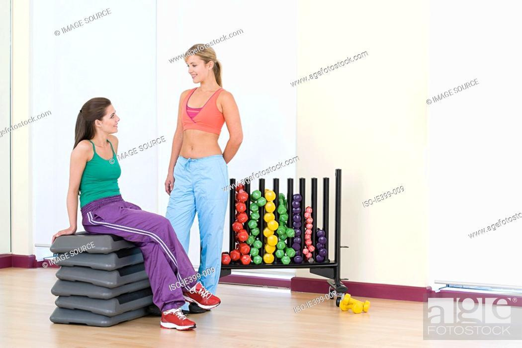 Stock Photo: Women in exercise studio.