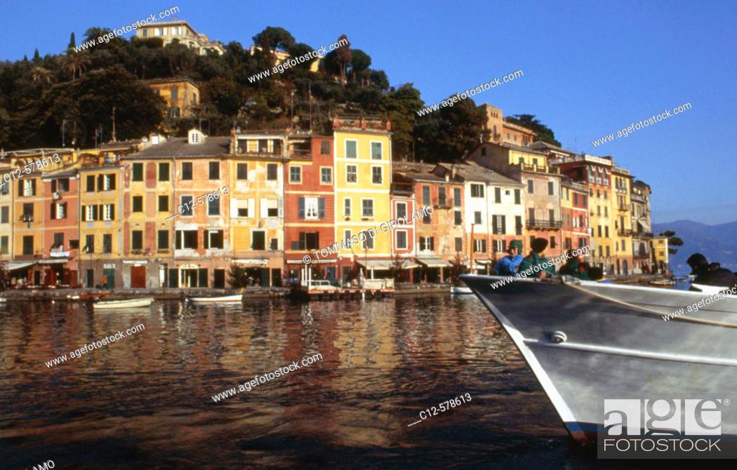 Stock Photo: portofino, liguria, italia.