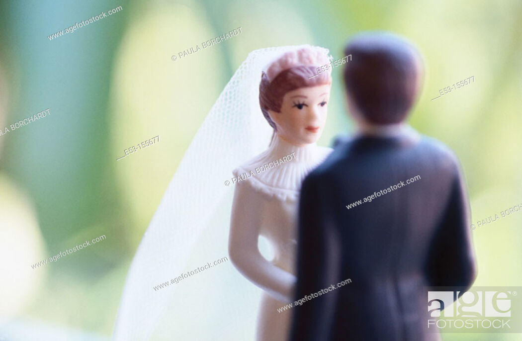 Stock Photo: Bride and groom figurines.