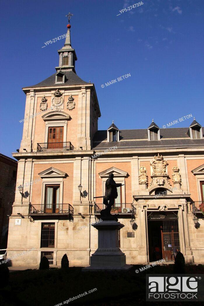 Stock Photo: Old Town Hall in Plaza de la Villa Madrid Spain.