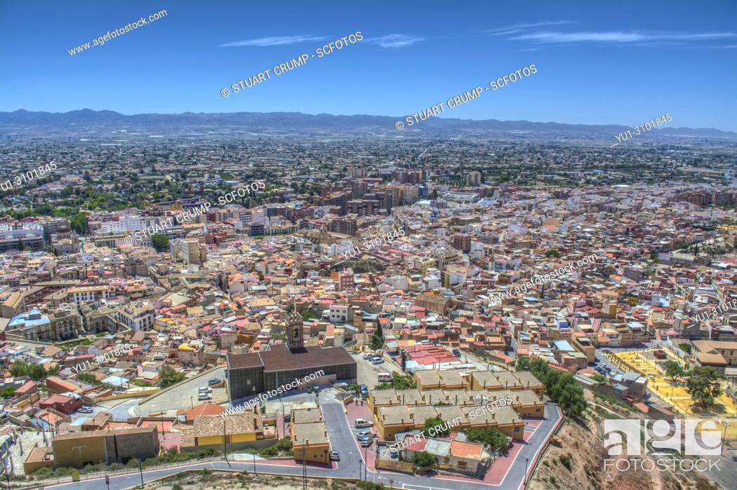 Stock Photo: HDR image of the Spanish city of Lorca Murcia Spain.