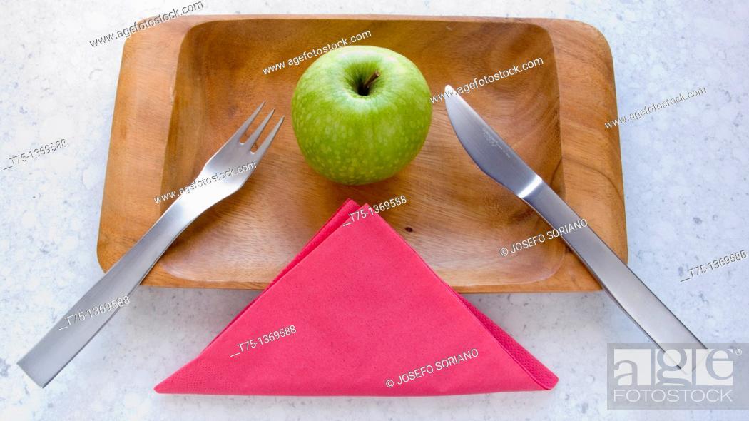 Stock Photo: Granny Smith, apple.
