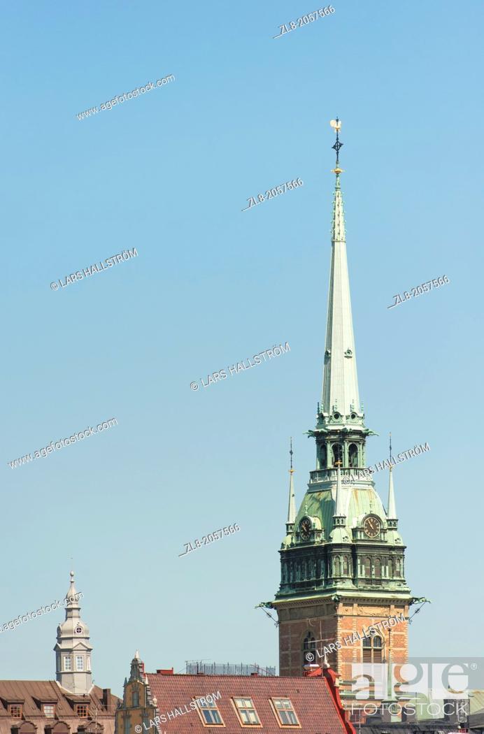 Stock Photo: Tyska kyrkan (German Church) in Old Town, Stockholm, Sweden.
