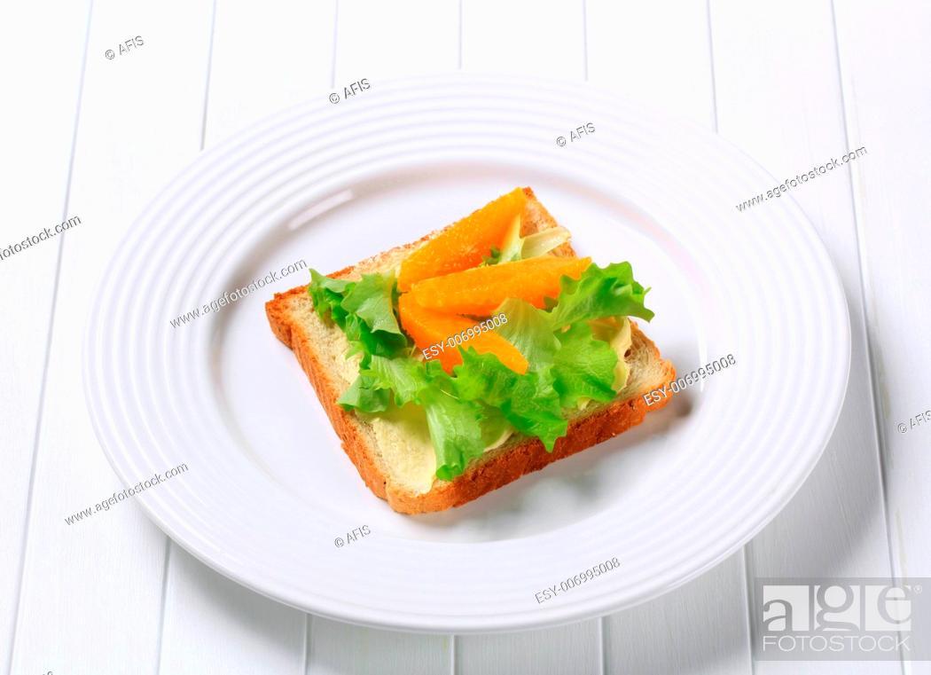 Stock Photo: Vegetarian sandwich.