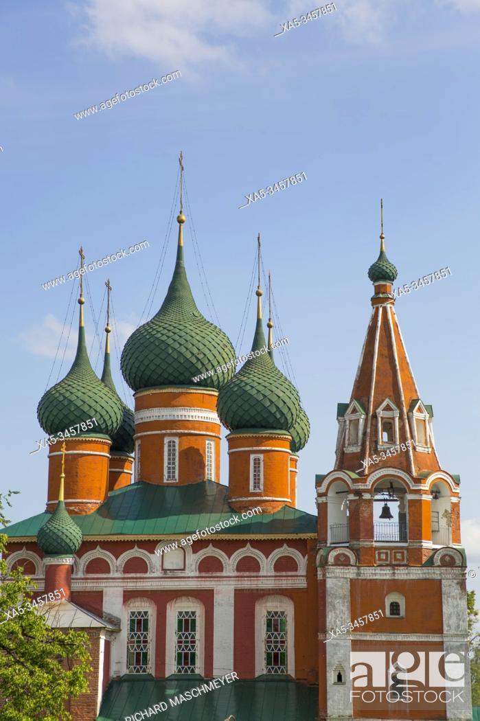 Stock Photo: St Michael the Archangel Church, UNESCO Site, Yaroslavl, Golden Ring, Yaroslavl Oblast, Russia.