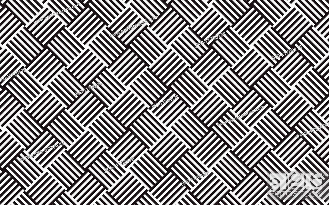 Stock Photo: Abstract monochrome woven grid pattern.