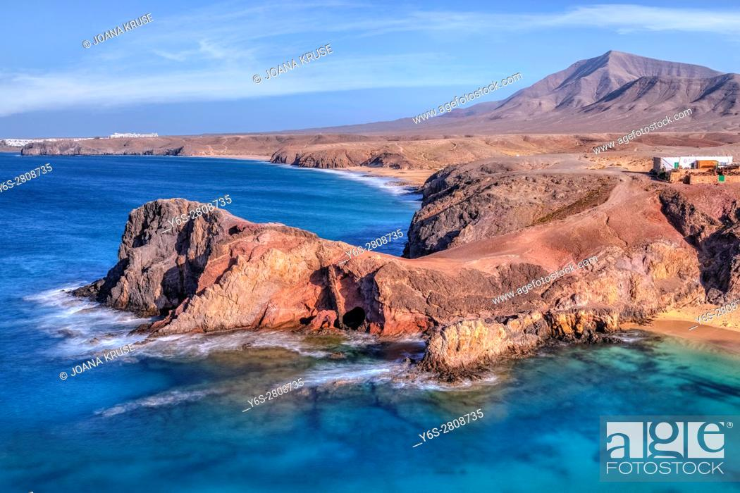 Stock Photo: Playa Papagayo, Playa Blanca, Lanzarote, Canary Islands, Spain.