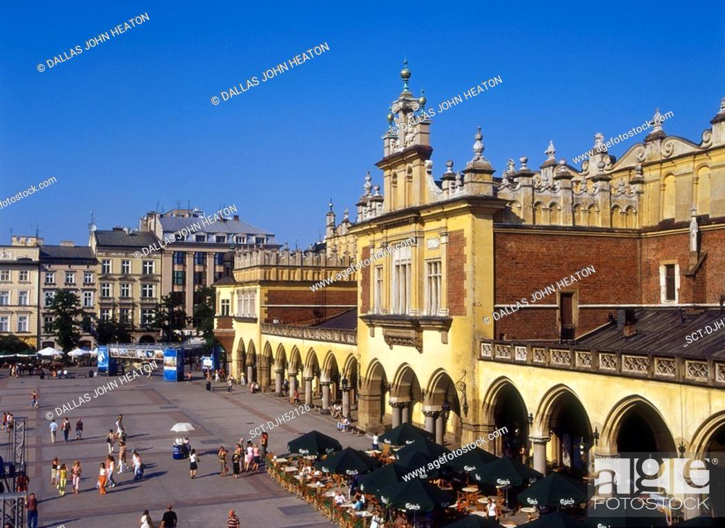 Stock Photo: Sukiennice, Cloth Hall, Old Town, Market Square, Krakow, Poland.