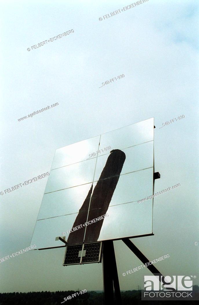 Stock Photo: Solar Energy - Zeche Zollverein - Essen - North Rhine-Westphalia - Germany.