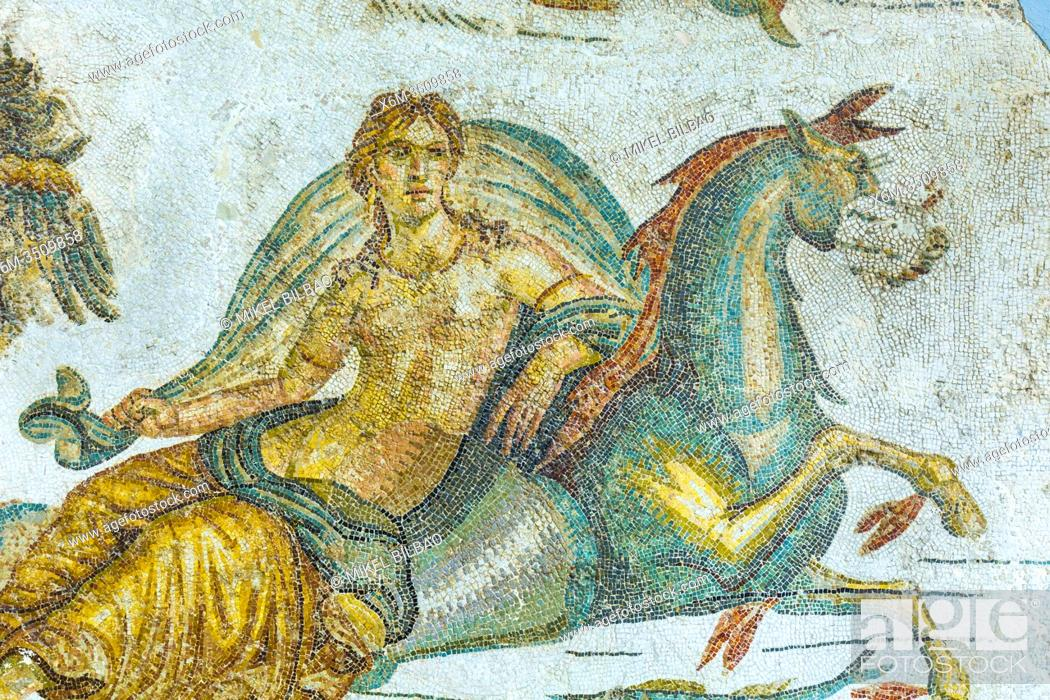 Photo de stock: Mosaic detail. Bardo National Museum. Tunis city. Tunisia, Africa.