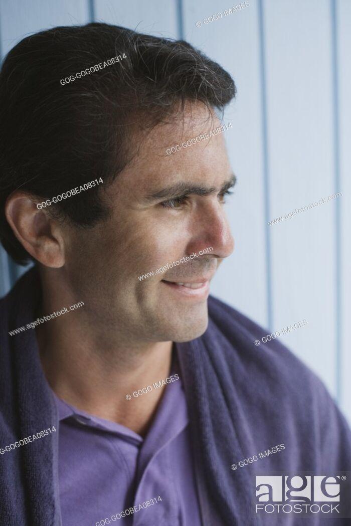 Stock Photo: Man smiling.