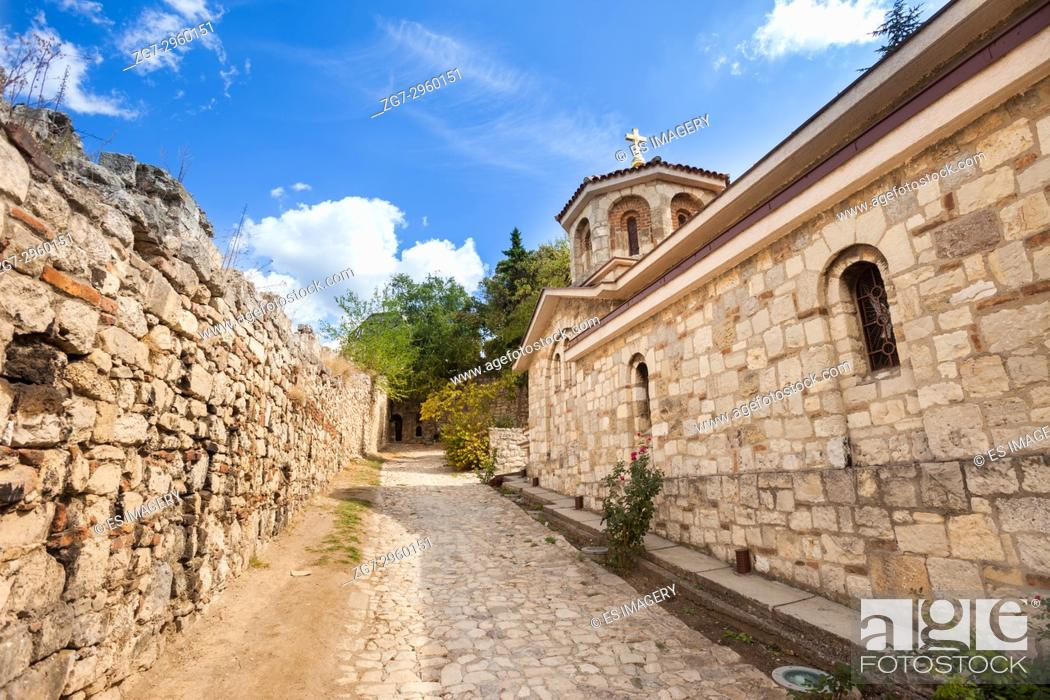 Stock Photo: Walls of St Peter's Chapel, Kalemegdan Fortress, Belgrade, Serbia.