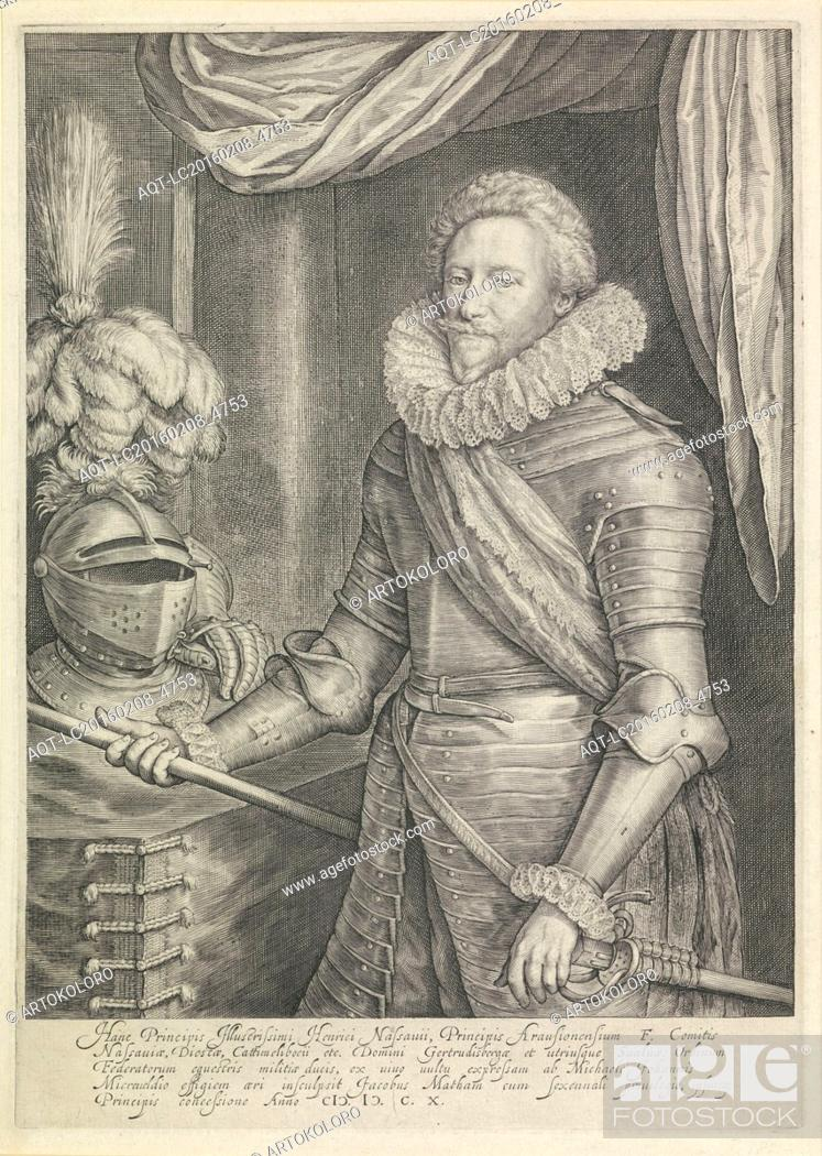 Portrait Of Frederik Hendrik Prins Van Oranje Jacob Matham