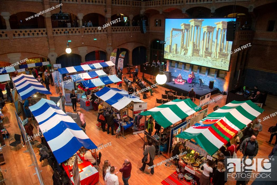 Stock Photo: holiday market in Beurs van Berlage in Amsterdam, Holland.
