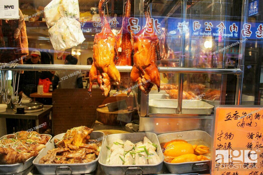 Imagen: Peking style roasted ducks.