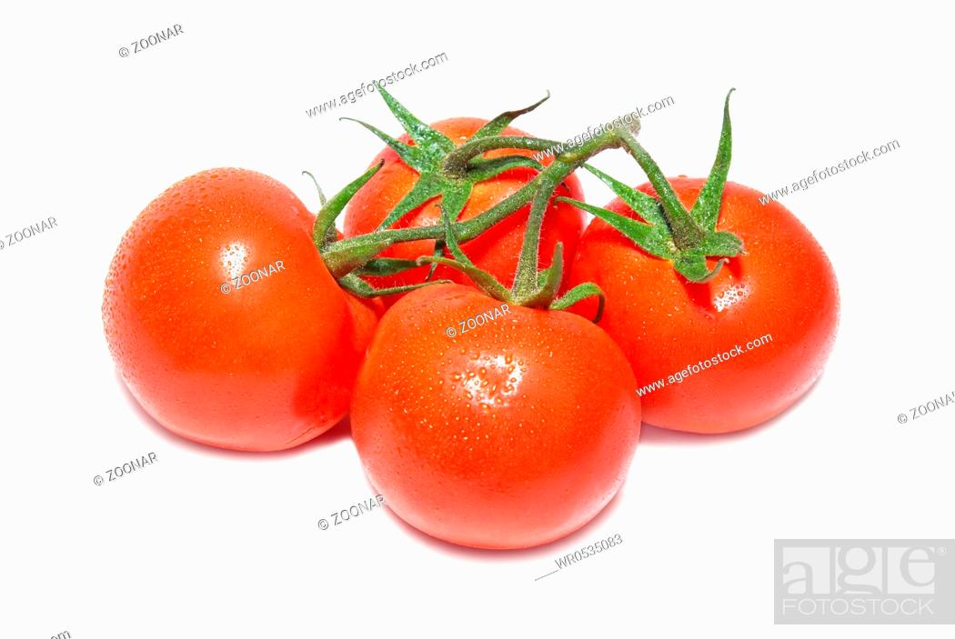 Stock Photo: Group of red tomatoes.