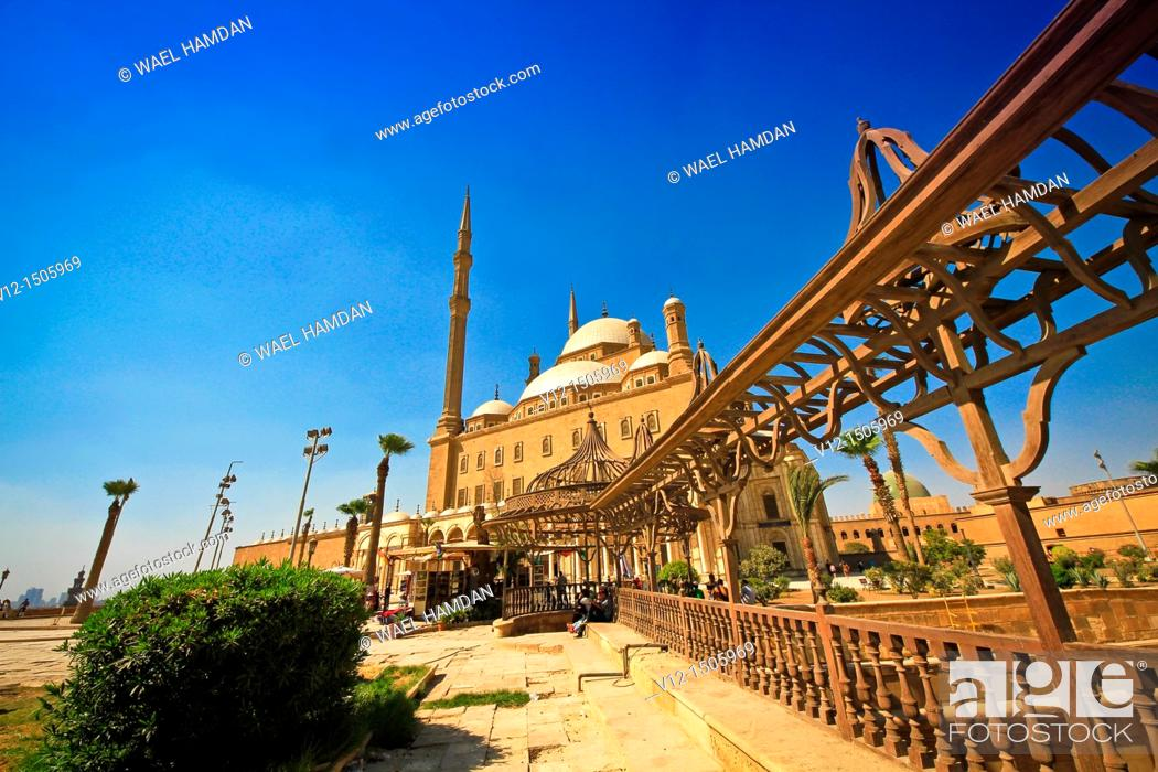 Stock Photo: Mohamed Ali Mosque, at the Citadel in Cairo, Egypt.