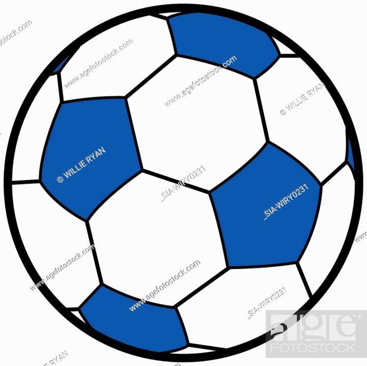 Imagen: Soccer ball on white background.