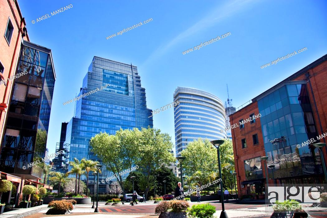 Stock Photo: Office blocks in Puerto Madero, Buenos Aires.