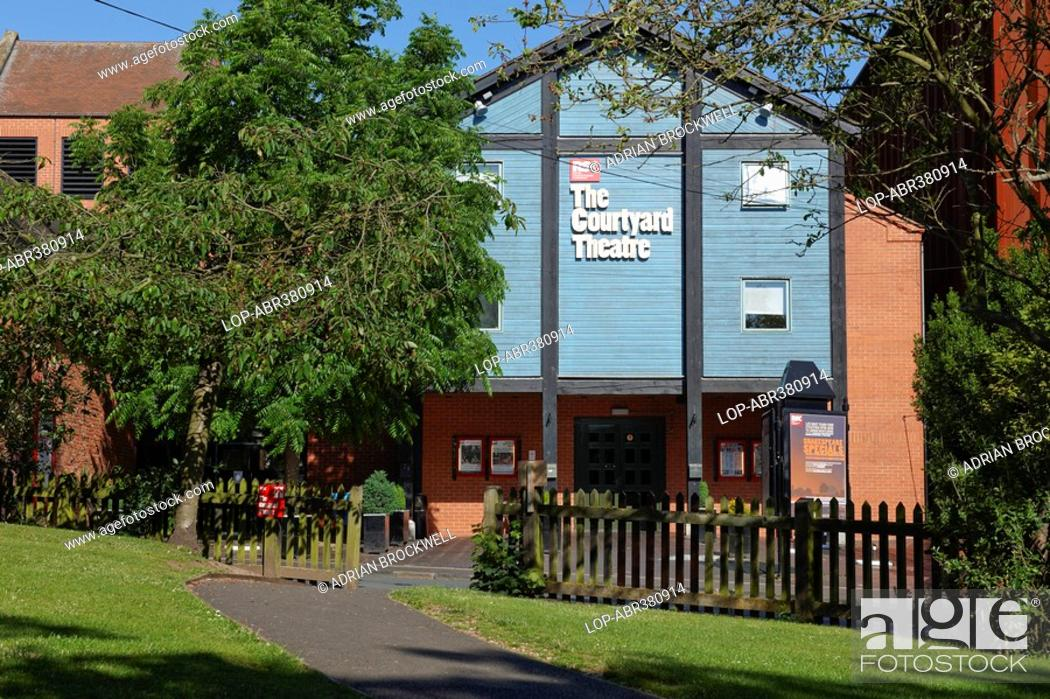 Stock Photo: The Courtyard Theatre, the RSC's Royal Shakespeare Company new theatre, opened in 2006 to allow the company to continue performing in Stratford-upon-Avon during.