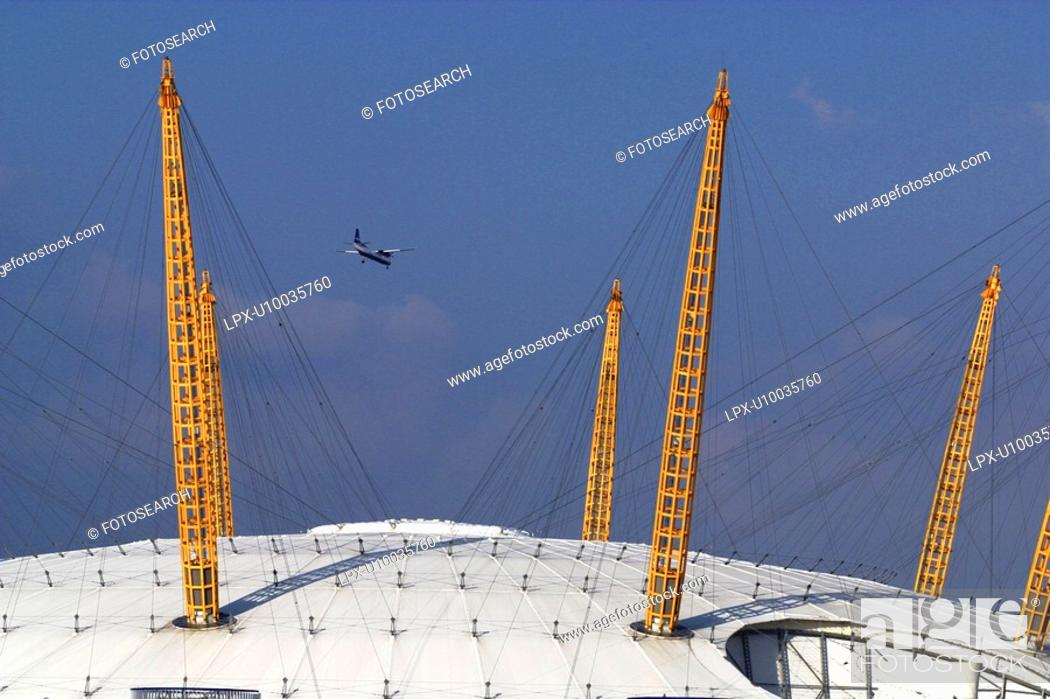 Stock Photo: Exterior Detail of the Millennium Dome.