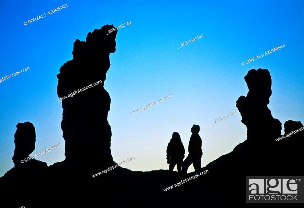 Stock Photo: 'Las Tres Marias'  Valley of the Moon  Atacama Desert  Antofagasta Region  Chile.