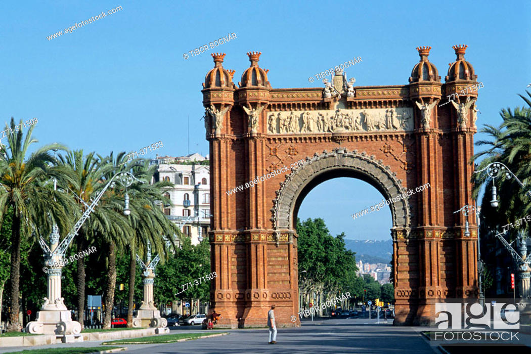 Stock Photo: Triumphal Arch. Barcelona. Spain.