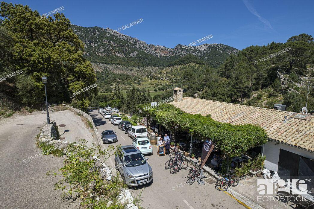 Stock Photo: restaurante Can Tomeu, valle de Orient, sierra de Tramuntana, Mallorca, Balearic Islands, Spain.