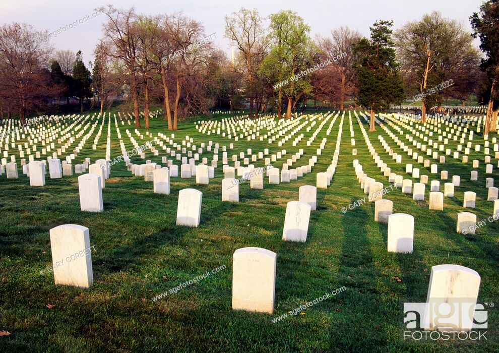 Stock Photo: Arlington cemetary washington DC USA.