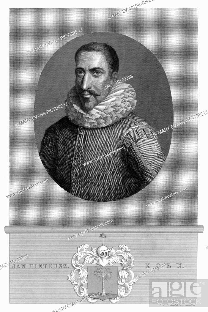 Stock Photo: JAN PIETERSZOON COEN (or Koen) Dutch merchant, pioneer in the (Dutch) East Indies, where he founded Batavia.