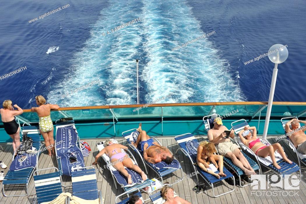 Stock Photo: Royal Caribbean cruise ship, Croatia.