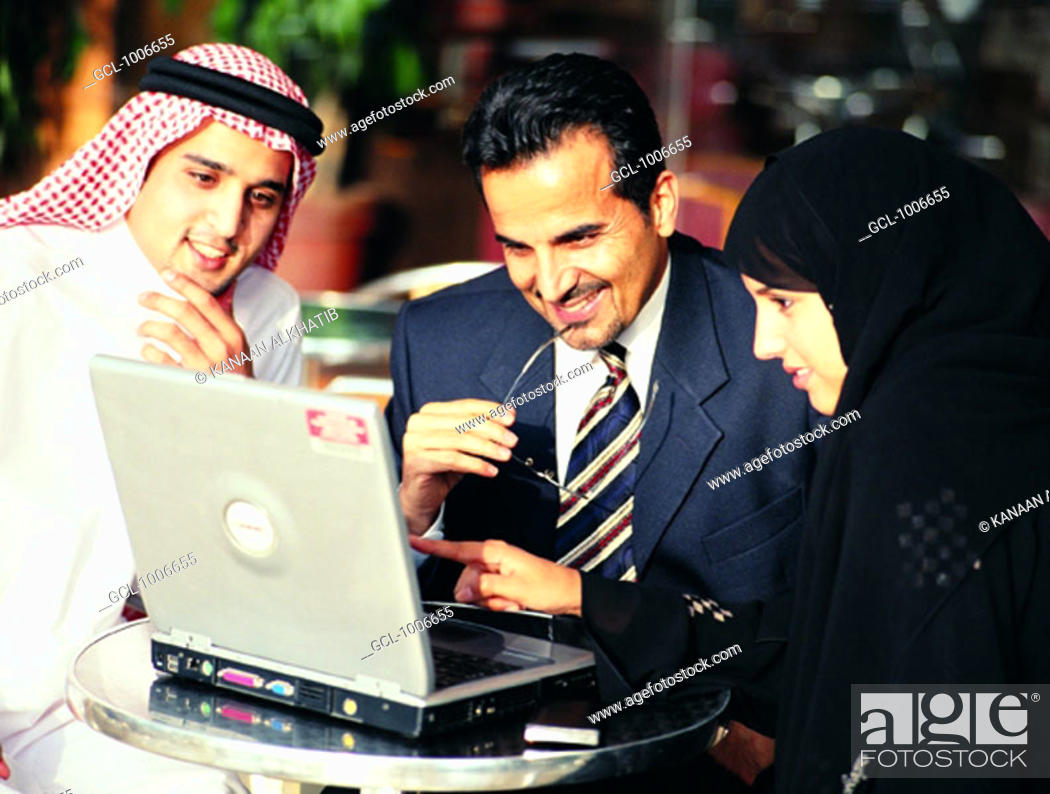 Stock Photo: Arab businesspeople in a meeting.