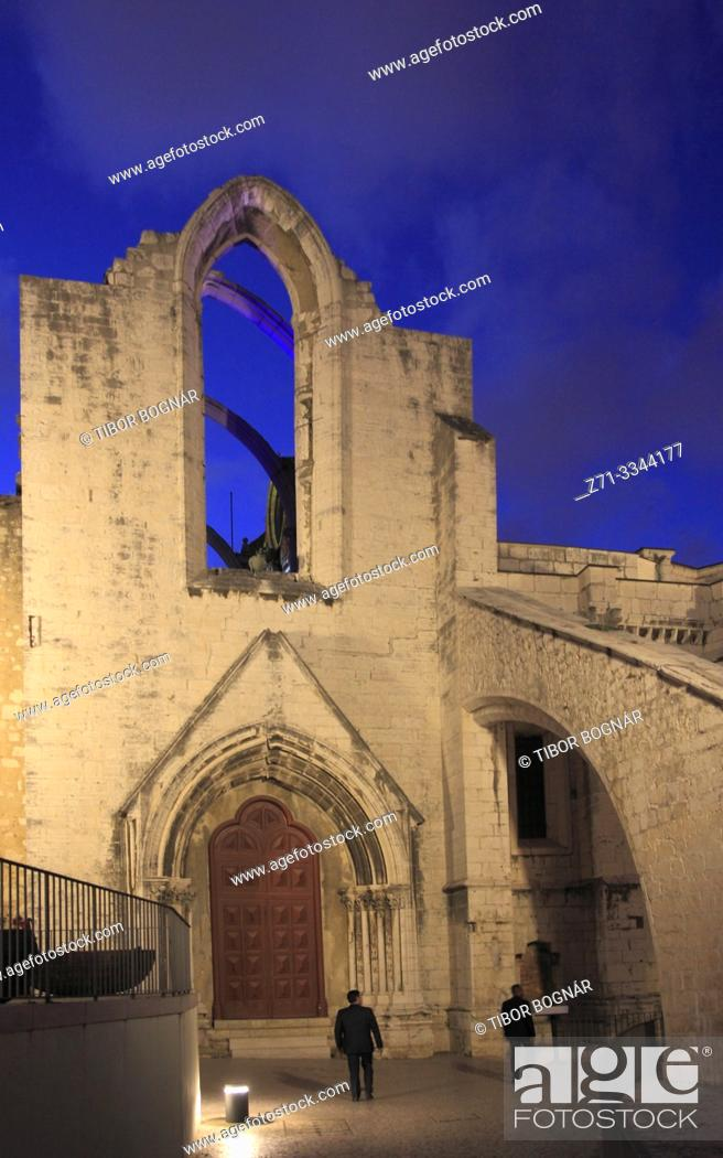 Stock Photo: Portugal, Lisbon, Bairro Alto, Convento do Carmo, convent,.