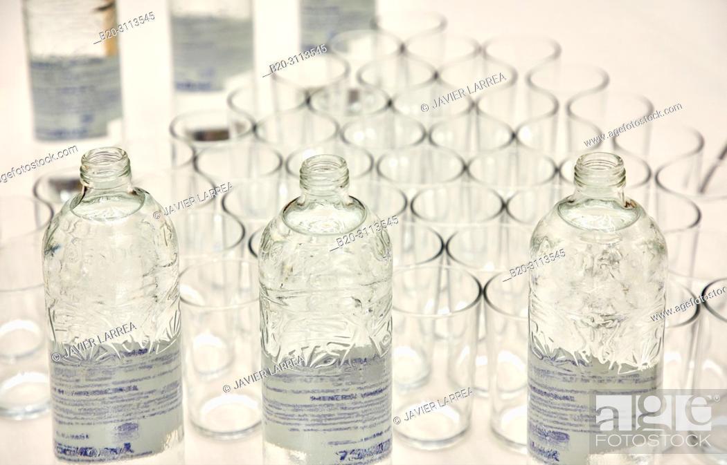 Stock Photo: Water, Catering in congress, Kursaal Congress Palace, Donostia, San Sebastian, Gipuzkoa, Basque Country, Spain, Europe.