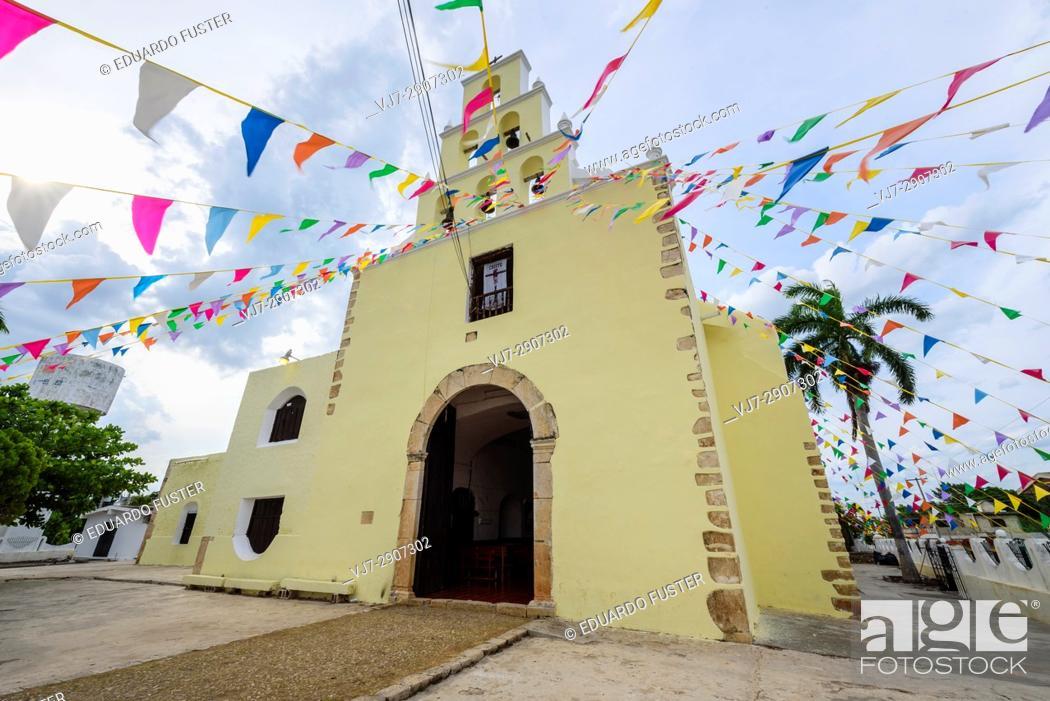 Stock Photo: Church of Chumayel, Yucatan (Mexico).