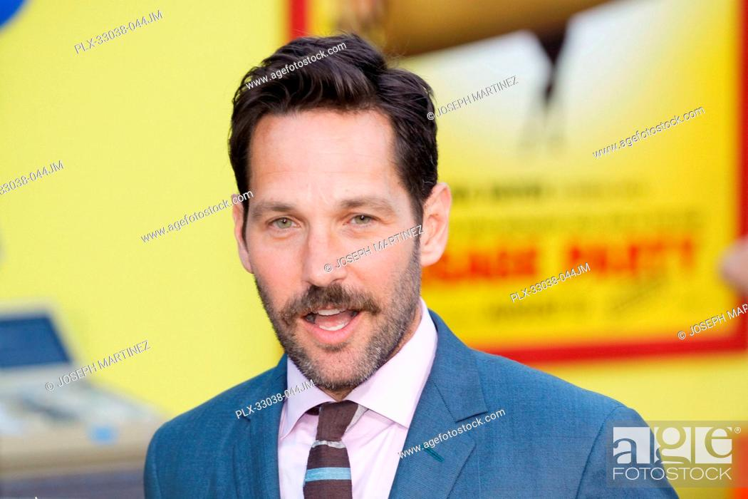 Stock Photo: Paul Rudd at the World Premiere of Columbia Pictures' and AnnaPurna Pictures' Sausage Party held at the Regency Village Theatre in Westwood.