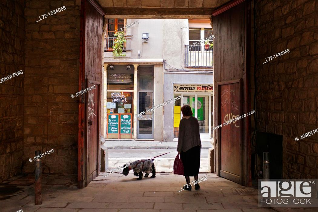 Stock Photo: El Raval neighbourhood, Barcelona, Catalonia, Spain.