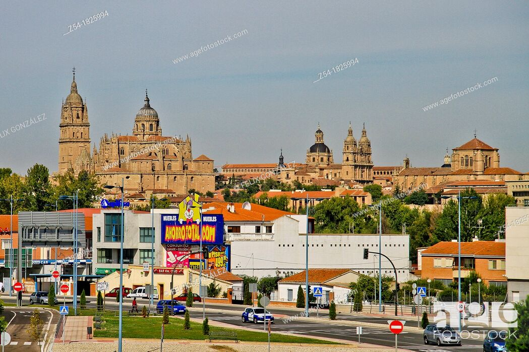 Imagen: Panoramic of Salamanca and the two Cathedrals, Castile and León, Spain.