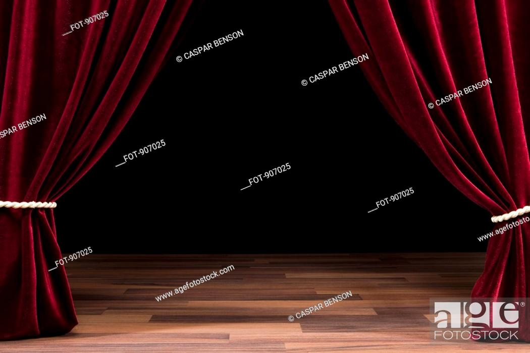 Stock Photo: An Empty Theatre Stage.